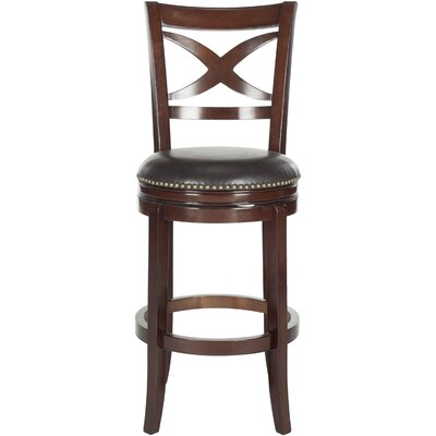 Santino 29 Swivel Bar Stool Color: Sierra Brown, Upholstery: Brown