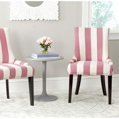Gowanus Dining Chair Upholstery: Pink / White Stripe