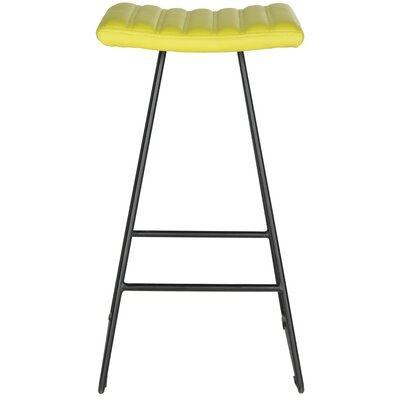 Akito 30 Bar Stool Upholstery: Citron Green