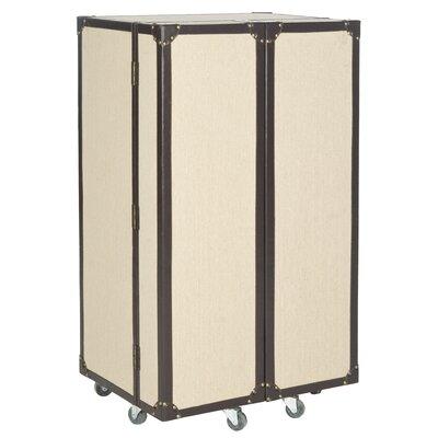 Grayson Bar Cabinet with Wine Storage Finish: Beige