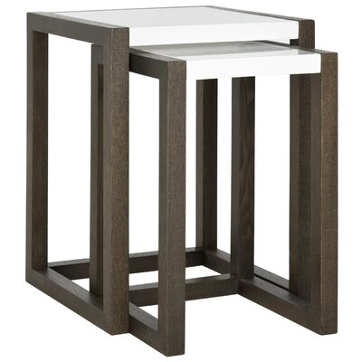 Egan 2 Piece Nesting Table Set Base Finish: Dark Brown