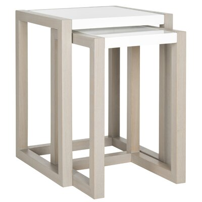 Egan 2 Piece Nesting Table Set Base Color: Grey