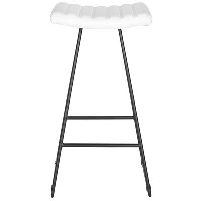 Akito 30 inch Bar Stool Upholstery: White