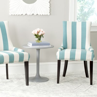 Gowanus Dining Chair Upholstery: Aqua Blue / White Stripe