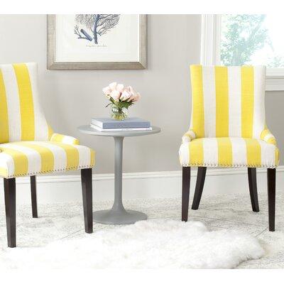 Gowanus Dining Chair Upholstery: Yellow / White Stripe