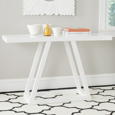 Sutton Console Table Finish: White Lacquer