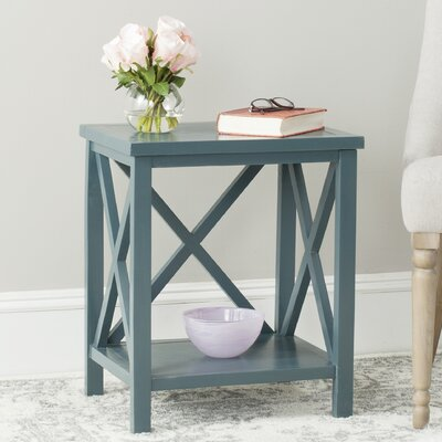 Davies End Table Color: Teal