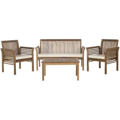 Carson Seating Group Beige Cushions Teak Look - Product photo