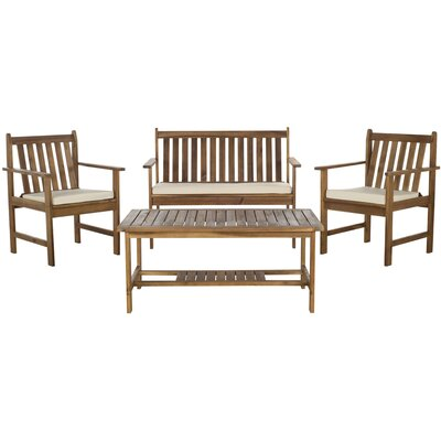 Safavieh Burbank 5 Piece Dining Set - Finish: Teak Look at Sears.com