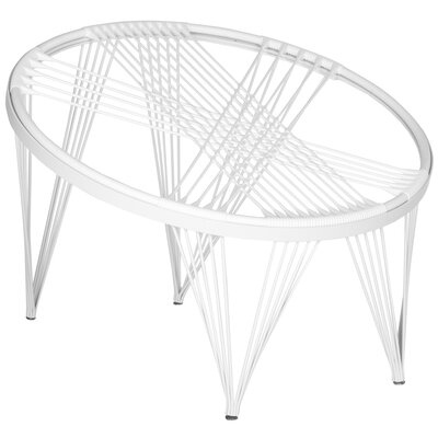 Launchpad Papasan Chair Color: White