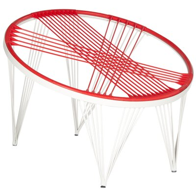Launchpad Papasan Chair Color: Red / White