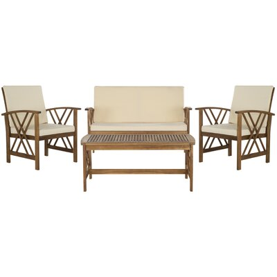 Safavieh Fontana 4 Piece Seating Group with Cushions