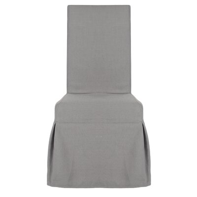 Liwanu Slipcover Side Chair Upholstery: Arctic Grey