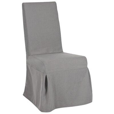 Kallie Slipcover Side Chair Upholstery: Arctic Grey
