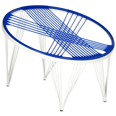 Launchpad Papasan Chair Color: Blue / White