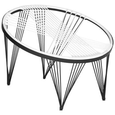 Launchpad Papasan Chair Color: White / Black