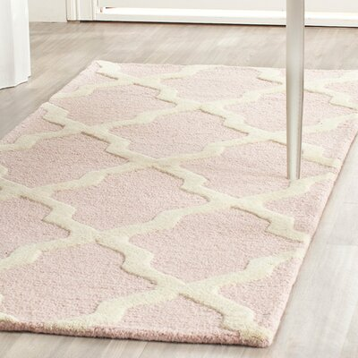 Clifford Light Pink/Ivory Area Rug Rug Size: Square 4