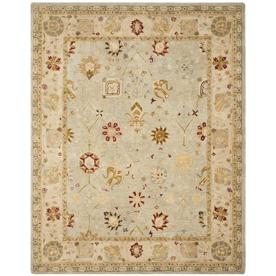 Anatolia Grey Blue/Ivory Indoor Area Rug Rug Size: 6 x 9