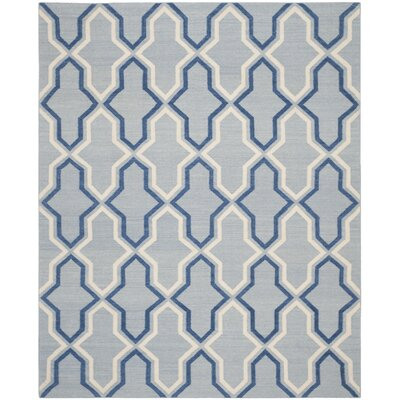 Dhurries Blue Contemporary Area Rug Rug Size: 8 x 10