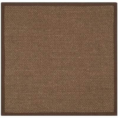 Greene Hand-Woven Brown Area Rug Rug Size: Square 4