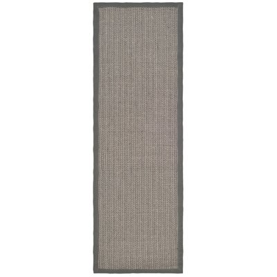 Richmond Hand-Woven Brown/Gray Rug Rug Size: Runner 26 x 8