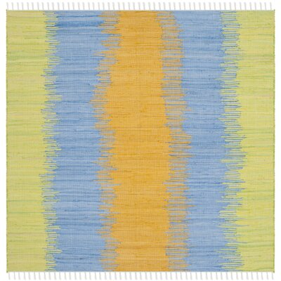 Ona Hand-Woven Cotton Area Rug Rug Size: Square 6