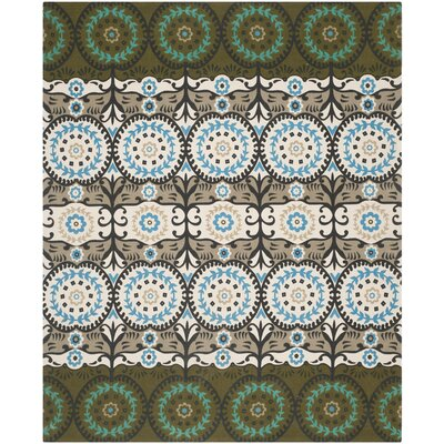 Cedar Brook Green / Teal Contemporary Rug Rug Size: 5' x 8'