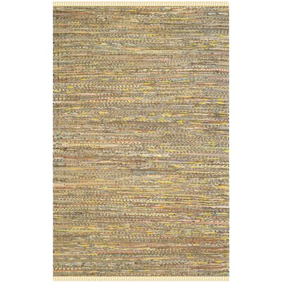 Havelock Contemporary Hand-Woven Cotton Yellow Area Rug Rug Size: Rectangle 6 x 9