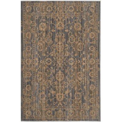 Infinity Oriental Brown/Grey Area Rug Rug Size: 5'1