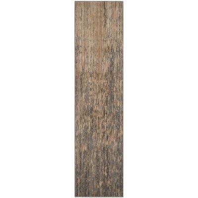 Infinity Beige/Grey Area Rug Rug Size: Runner 2 x 8