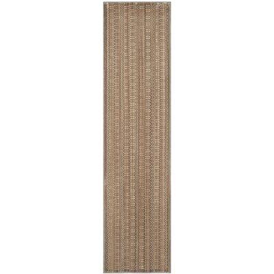 Infinity Brown Area Rug Rug Size: Runner 2 x 8