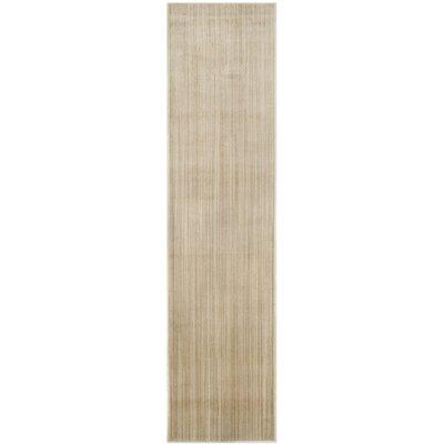 Infinity Beige/Green Area Rug Rug Size: Runner 2 x 8