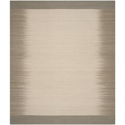 Kilim Beige / Light Green Contemporary Rug Rug Size: 8 x 10