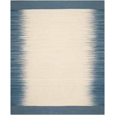 Kilim Beige / Light Blue Contemporary Rug Rug Size: 8 x 10
