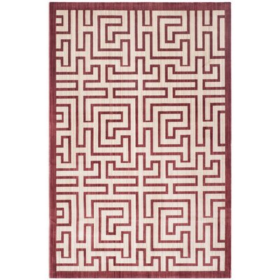 Infinity Red/Beige Area Rug Rug Size: Rectangle 8 x 10