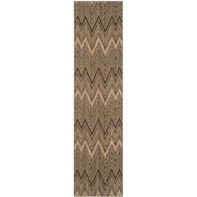 Infinity Taupe/Beige Chevron Area Rug Rug Size: Runner 2 x 8