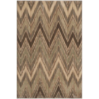 Infinity Taupe/Beige Chevron Area Rug Rug Size: 9 x 12