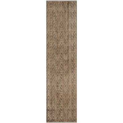 Infinity Dark Brown Area Rug Rug Size: Runner 2 x 8