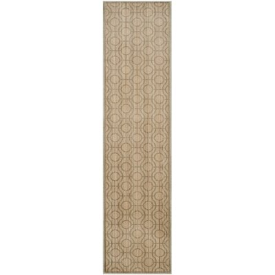 Infinity Bown/Gray Geometric Area Rug Rug Size: Runner 2 x 8