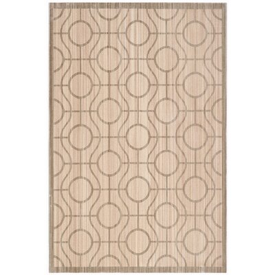 Infinity Bown/Gray Geometric Area Rug Rug Size: Rectangle 51 x 76