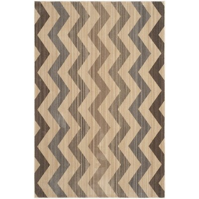 Infinity Chevron Brown/Beige Area Rug Rug Size: Rectangle 51 x 76