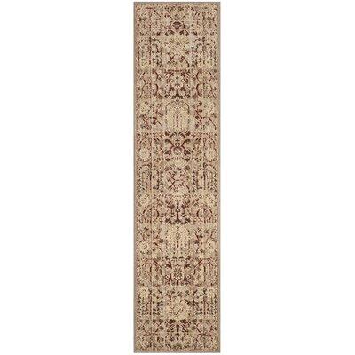 Infinity Oriental Beige/Cream Area Rug Rug Size: Runner 2 x 8
