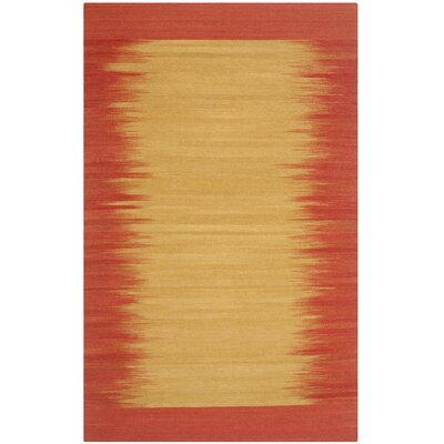 Kilim Rust Contemporary Rug Rug Size: 3 x 5