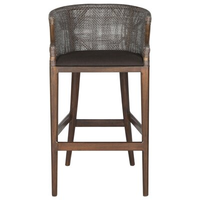 Brando Bar Stool Upholstery: Brown/Brown