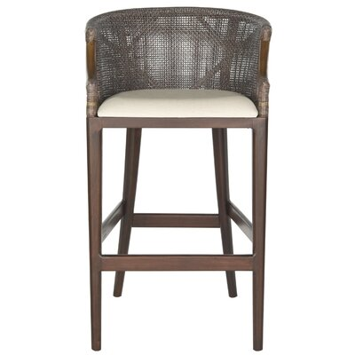 Brando Bar Stool Upholstery: Brown/Cream
