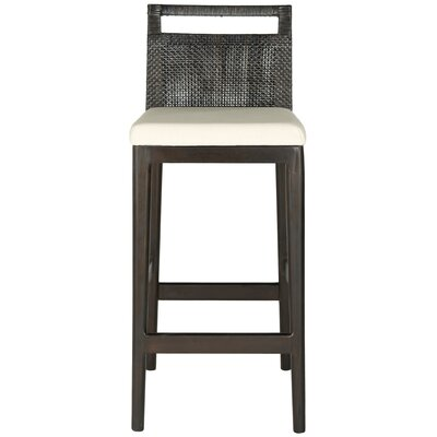 27.75 Bar Stool Upholstery: White