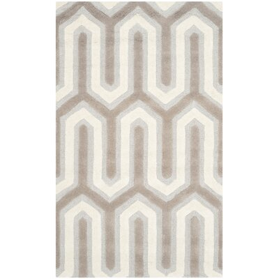 Martins Hand-Tufted Light Gray & Ivory Area Rug Rug Size: Rectangle 3 x 5