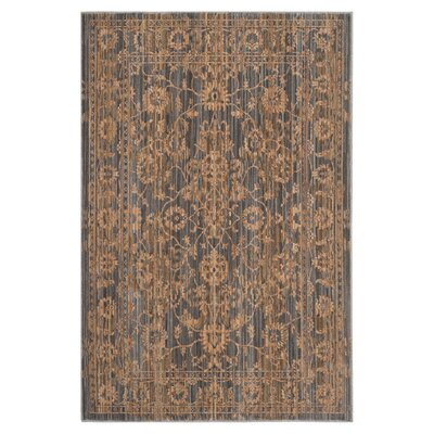 Infinity Oriental Brown/Grey Area Rug Rug Size: 4 x 6