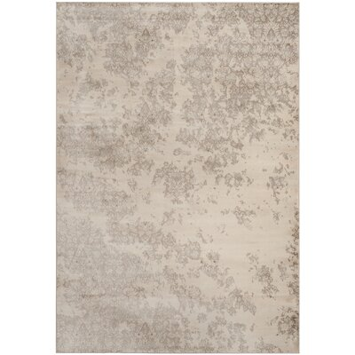 Vintage Ivory/Gray Area Rug Rug Size: Rectangle 9 x 12