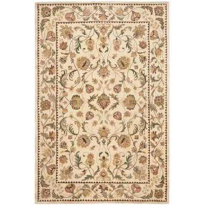 Bergama Ivory Area Rug Rug Size: Rectangle 6 x 9